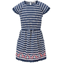 Buy Fat Face Girls' Maisy Stripe Dress, Navy Online at johnlewis.com