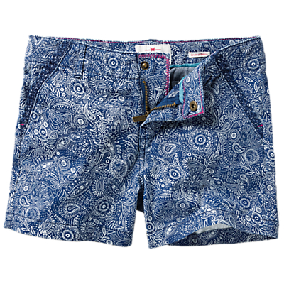 Product photo of Fat face girls elephant print chino shorts blue