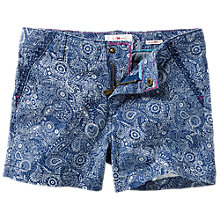 Buy Fat Face Girls' Elephant Print Chino Shorts, Blue Online at johnlewis.com
