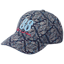 Buy Fat Face Girls' Tile Baseball Cap Hat, Navy Online at johnlewis.com