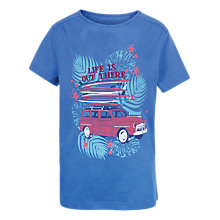 Buy Fat Face Girls' Short Sleeve Car Surf T-Shirt, Sky Blue Online at johnlewis.com