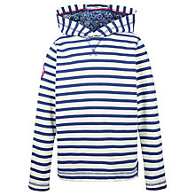 Buy Fat Face Girls' Bude Stripe Popover Hoodie, Navy Online at johnlewis.com