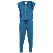 Buy Fat Face Girls' Embroidered Jersey Jumpsuit, Denim Online at johnlewis.com