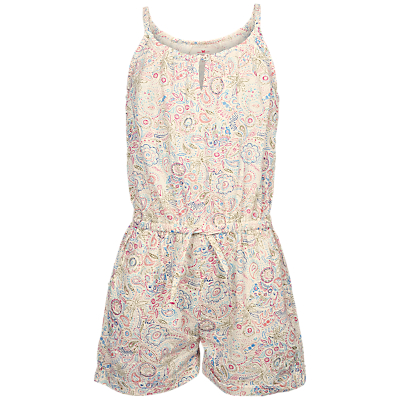 Fat Face Girls' Elephant Doodle Playsuit, Natural