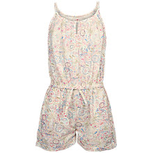 Buy Fat Face Girls' Elephant Doodle Playsuit, Natural Online at johnlewis.com