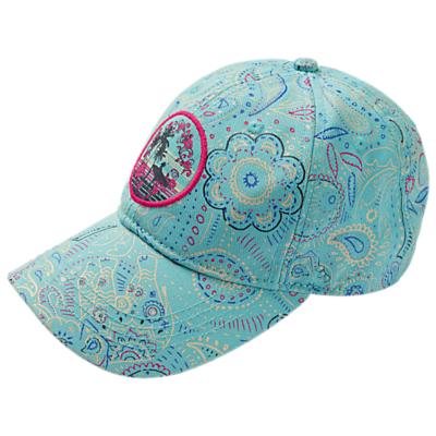 Fat Face Girls' Paisley Cap Hat, Aqua