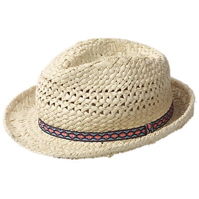 Fat Face Girls' Trilby Hat, Natural