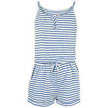 Buy Fat Face Girls' Striped Playsuit, Navy Online at johnlewis.com