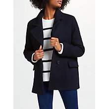 Buy Collection WEEKEND by John Lewis Short Cocoon Coat, Navy Online at johnlewis.com