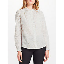Buy Collection WEEKEND by John Lewis Star Print Shirt, White Online at johnlewis.com