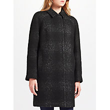Buy John Lewis Cocoon Coat, Black Online at johnlewis.com