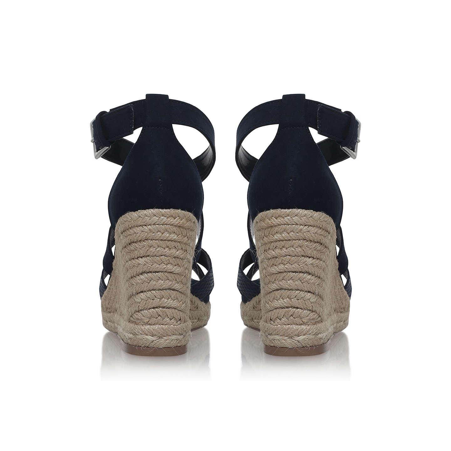 BuyCarvela Smashing Cross Strap Wedge Heel Sandals, Navy, 3 Online at johnlewis.com