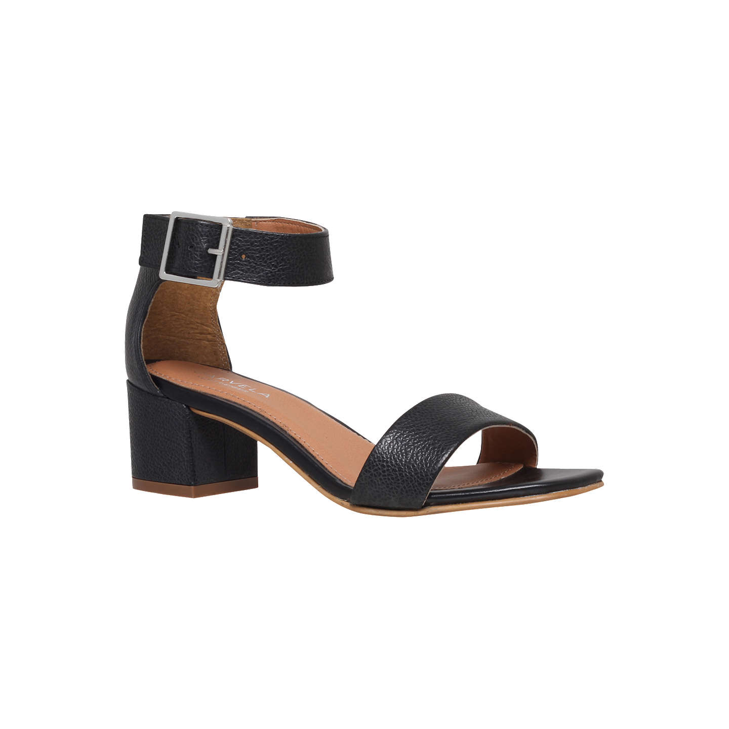 BuyCarvela Shadow Block Heeled Sandals, Black, 4 Online at johnlewis.com