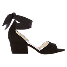Buy Karen Millen Soft Wrap Tie Block Heeled Sandals, Black Online at johnlewis.com