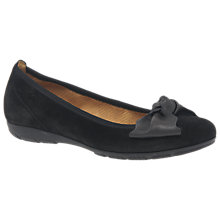 Buy Gabor Brenda Bow Ballet Pumps, Black Online at johnlewis.com