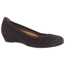 Buy Gabor Arya Wide Fit Low Wedge Court Shoes Online at johnlewis.com
