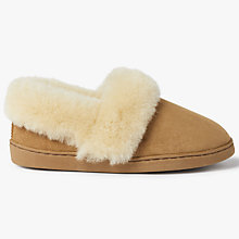 Buy John Lewis Sheepskin Comfort Cuff Slippers, Chestnut Online at johnlewis.com