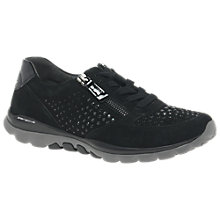 Buy Gabor Fantastic Extra Wide Fit Trainers, Black Online at johnlewis.com
