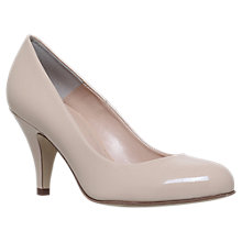 Buy Carvela Adam 2 Cone Heeled Court Shoes, Nude Online at johnlewis.com
