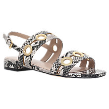 Buy Carvela Bass Eyelet Flat Sandals, Beige Online at johnlewis.com