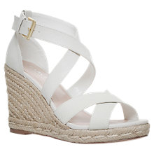 Buy Carvela Smashing Cross Strap Wedge Heel Sandals Online at johnlewis.com