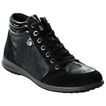 Buy John Lewis Designed for Comfort Fern High Top Trainers, Black Online at johnlewis.com