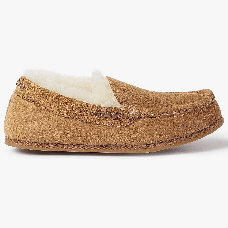 New John Lewis Women's Chestnut Sheepskin Moccasin Slippers Size S UK 3-4 RRP£45