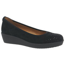 Buy Gabor Raid Wide Fit Pumps, Black Online at johnlewis.com