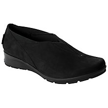 Buy John Lewis Designed for Comfort Garyn Slip On Trainers, Black Online at johnlewis.com