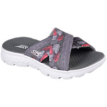 Buy Skechers On the Go 400 Cross Strap Mule Sandals, Grey Online at johnlewis.com