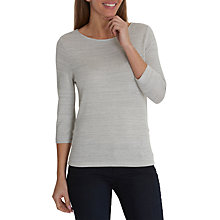 Buy Betty & Co. Fine Knit Top, Light Silver Melange Online at johnlewis.com