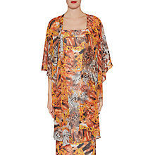 Buy Gina Bacconi Abstract Printed Chiffon Shawl, Gold Online at johnlewis.com
