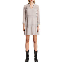 Buy AllSaints Nima Silk Cotton Blend Dress, Champagne Pink Online at johnlewis.com