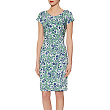 Buy Gina Bacconi Floral Print Jersey Dress, Green Online at johnlewis.com
