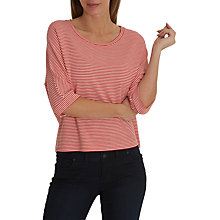 Buy Betty & Co. Striped Batwing Top, White/Red Online at johnlewis.com