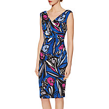 Buy Gina Bacconi Abstract Floral Print Jersey Dress, Cobalt Online at johnlewis.com
