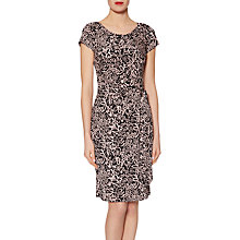 Buy Gina Bacconi Floral Print Jersey Dress, Black/Pink Online at johnlewis.com