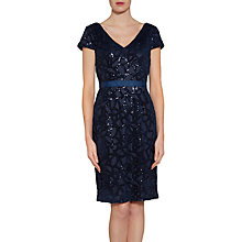 Buy Gina Bacconi Sequin Net Dress, Spring Navy Online at johnlewis.com