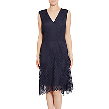 Buy Gina Bacconi Doily Chemical Lace Dress, Spring Navy Online at johnlewis.com