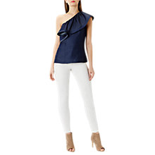 Buy Coast Alana One Shoulder Top, Navy Online at johnlewis.com