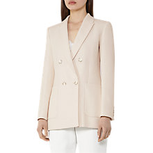 Buy Reiss Lille Relaxed Longline Jacket, Pearl Online at johnlewis.com