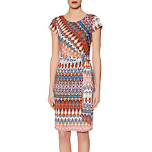 Buy Gina Bacconi Abstract Print Jersey Dress, Navy/Multi Online at johnlewis.com