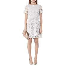 Buy Reiss Eleania Lace Dress, Off White Online at johnlewis.com