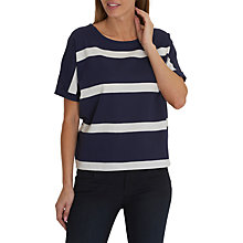 Buy Betty Barclay Textured Striped Top, Classic Blue/White Online at johnlewis.com