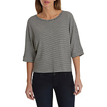 Buy Betty & Co. Batwing Striped Top, White/Black Online at johnlewis.com
