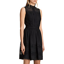 Buy AllSaints Rowy Lace Dress, Black Online at johnlewis.com
