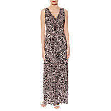 Buy Gina Bacconi Floral Print Jersey Maxi Dress, Black/Pink Online at johnlewis.com