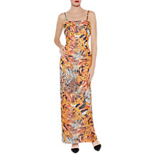 Buy Gina Bacconi Abstract Printed Maxi Dress, Gold Online at johnlewis.com