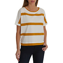 Buy Betty & Co. Textured Striped Top, White/Brass Online at johnlewis.com