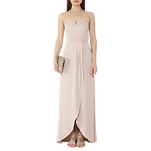 Buy Reiss Zosia Strapless Wrap-Front Maxi Dress, Jasmine Shimmer Online at johnlewis.com